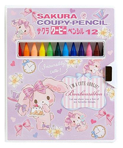 [해외]봉봉 리본 사쿠라 쿠삐 (R) 연필 12 색/Bonbo Ribbon Sakura Coopie (R) Pencil 12 colors
