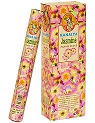 ジャスミンお香インドから – 120 Sticks – madeからNatural Scented Oil – Kanaiyaブランドby tikkalife