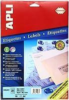 APLI インクジェットA4透明ラベル10枚21面 10967