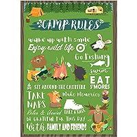 musykrafties 森キャンプのルールサインポスターポスターブースの小道具 16.5x11.8インチ