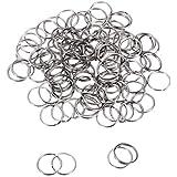 100個セット 金属キー リング キーホルダーキーリング ニッケルメッキ金属 金具 パーツ 部品 20mm