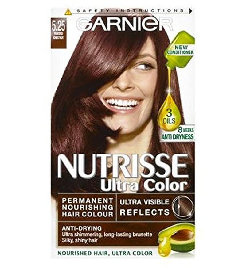 消毒剤コモランマ野望Nutrisse Ultra Permanent Hair Colour 5.25 Chestnut - Nutrisse超パーマネントヘアカラー5.25栗 (Garnier) [並行輸入品]