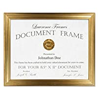 8.5x11 Sutter Burnished Gold Picture Frame 【Creative Arts】 [並行輸入品]