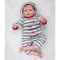 Pursueベビー人形Lifelike新生児赤ちゃん少年Charles Cuddle Chirldren、22インチ用ソフトビニールリアルなWeighted Baby Dollヒップホップ