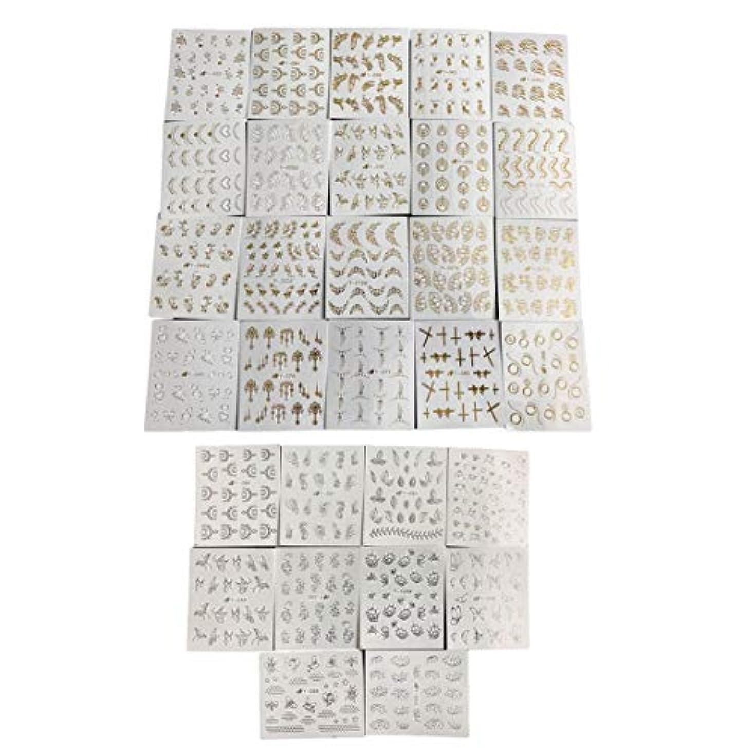 ヘビペンマスクフルビューティー30ピースゴールドシルバーネーターウォーターステッパーフェザーフラワーデザインデカール用ネイルデコレーションネイルアートマニキュア