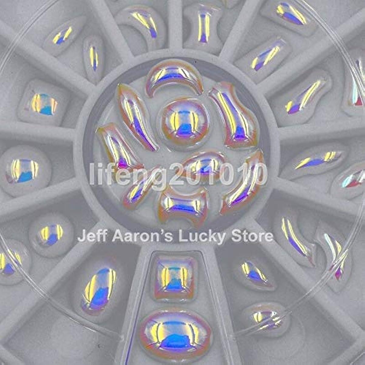 微視的おとうさんエレクトロニックFidgetGear 混合デザインホワイトAB 3dキラキラネイルアートデコレーションラインストーンパールホイール新しい ホワイトAB