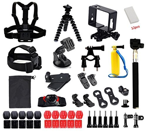 Aiposen 49-in-1 Outdoor Sport Camera Accessories Bundle Kit for Gopro SJ Cam Xiaomi Yi [並行輸入品]