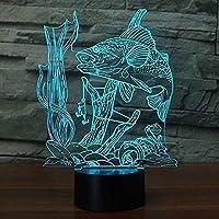 周囲光、 7色に点滅搭載&タッチスイッチUSB、Kids'Giftsホームデコレーションのためのベッドルームデスクランプとイリュージョンランプ釣りの夜の光