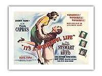 """フランク Capra's""""それは素晴らしいライフです"""" - James Stewart、ドナ・リードの出演 - ビンテージなフィルム映画のポスター c.1946 - プレミアム290gsmジークレーアートプリント - 30.5cm x 41cm"""