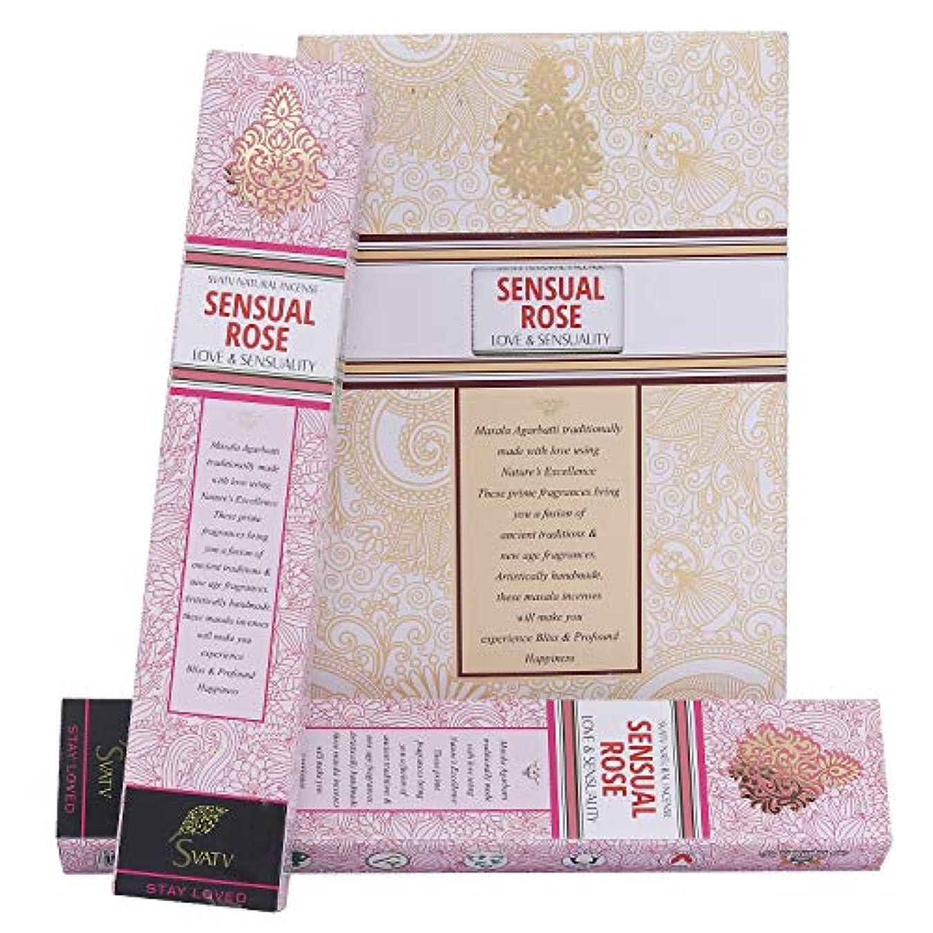 靄美人サージSVATV Rose :: Hand Rolled Masala Incense Stick Made in India 15g Pack Of 2