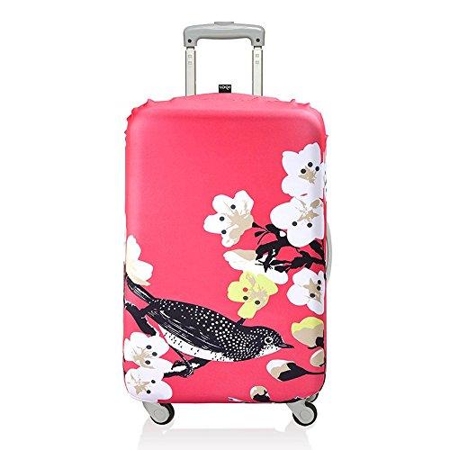 (ローキー) LOQI スーツケース キャリーバック カバー ラッゲージカバー12.【PRIMA】Cherry【Mサイズ】