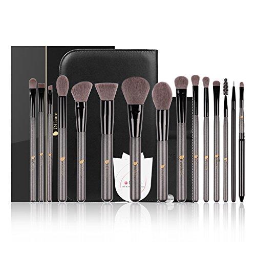 DUcare ドゥケア 化粧筆 贅沢なメイクブラシセット 15本セット 最高級のタクロンを使用 上質な化粧ポーチ&化粧鏡付き