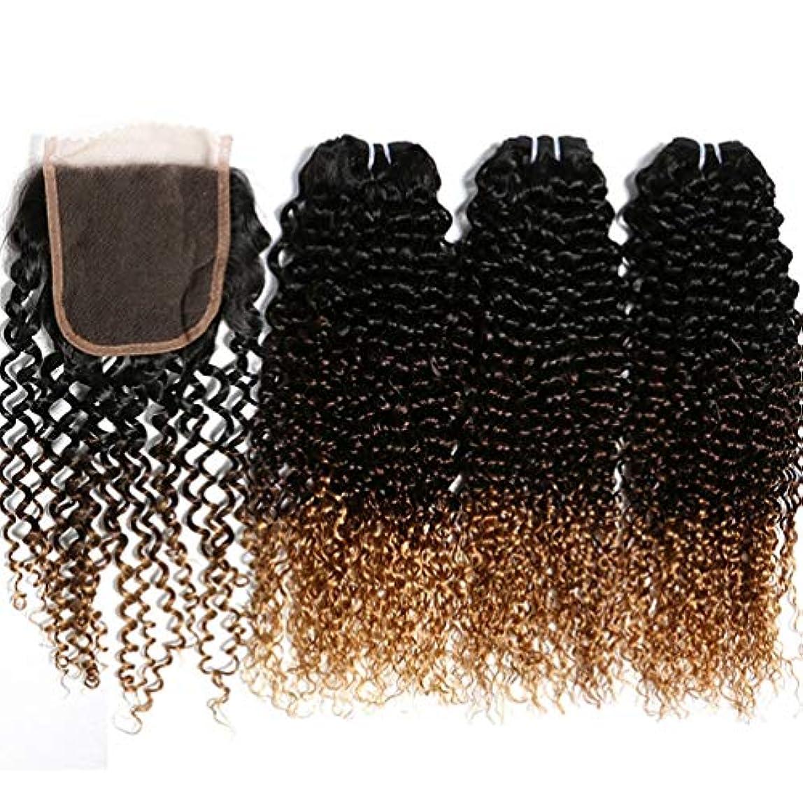 振りかける寄託イヤホン女性ブラジルの髪の束と人間の髪の束を織り人の髪の束とブラジルの身体の波を織り(3束)