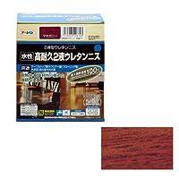 (まとめ買い) アサヒペン 水性高耐久2液ウレタンニス マホガニー 300gセット 【×3】
