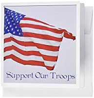 Whiteoak Photography American Flag – An American flag-support Our Troops – グリーティングカード Set of 12 Greeting Cards