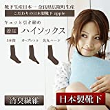 日本製靴下 レディース むくみ解消 着圧ハイソックス オープントゥ 5本指 先丸