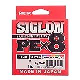 サンライン(SUNLINE) ライン シグロン PEx8 150m 5色 0.8号 12LB J