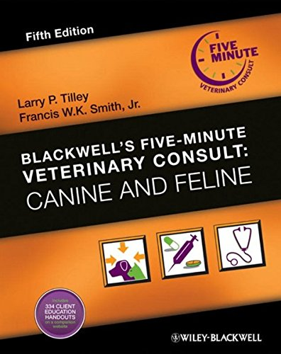 Download Blackwell's Five-Minute Veterinary Consult: Canine and Feline 0813807638