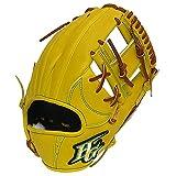 HI-GOLD(ハイゴールド) 硬式グラブ 技極プロフェッショナルシリーズ 二塁手・遊撃手用 LH 右投げ WKG-1066 ナチュラルイエロー C-3