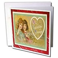 リーヒラーデザイン休日Valentines Day–Victorian Valentine Aバレンタインメッセージ–グリーティングカード Set of 12 Greeting Cards