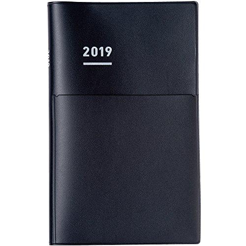 コクヨ ジブン手帳 Biz 手帳 2019年 A5 スリム マンスリー&ウィークリー マットブラック ニ-JB1D-19 2018年 12月始まり