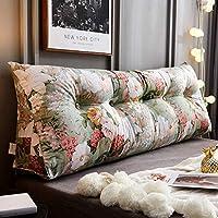 トライアングルベッド枕ダブルベッドルームソファプリンセスクッション枕ビッグバック Zsetop (Color : B, Size : 120*50*25cm)