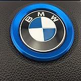 BMW i8 ルック アルミ ステアリング センターリング ドレスアップカバー (ブルー)