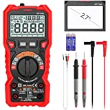 INTENDVISION Advanced Digital Multimeter TRMS 6000 Counts Tester Non Contact Voltage Detection Amp Ohm Volt Multi Meter Temperature, Live Line, with LCD Backlit