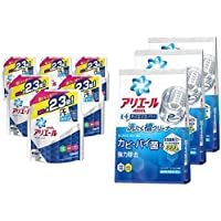 【セット買い】【ケース販売】 アリエール 洗濯洗剤 液体 イオンパワージェル 詰め替え 超ジャンボ1.62kg×6個 & 【まとめ買い】 アリエール 洗たく槽クリーナー 250g×3個
