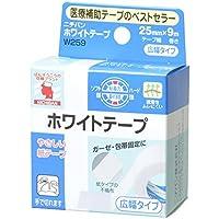 ニチバン ホワイトテープ 25mm幅 9m巻き 1巻
