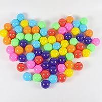 100個 カラフルで楽しいボール ソフトプラスチックボールピットボール ベビー キッズ テント スイムトイ ボール 7cm、色