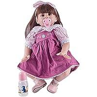 hoomai 24インチLifelike人形Rebornベビー人形Siliconeビニールボディfor Real Touchリアルな愛らしい新生児人形おもちゃ