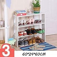 靴のラック、木製の靴のキャビネット、実用的で丈夫なスペースを保存する靴の収納キャビネットの棚 (色 : 43161)