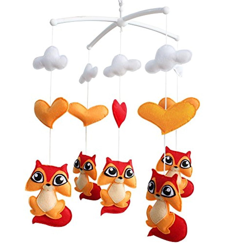 間に合わせ芸術アイザック[リス]ベビーボーイ&ガール寝具ラトルおもちゃ、ハンギングおもちゃ、ギフトを吊るす