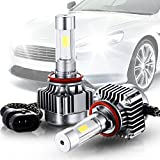 NIANPU H11 Hi/Lo LED ヘッドライト 車検対応 フィリップス h11 h8 8000LM 72W IP65 6500K COB 2本セット 発光4面