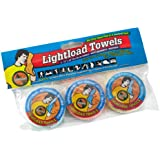 Lightload Towels Compressed Wash Cloth Hand Face Disposable Washable Non Microfiber Quick Dry Pack Camp Travel Towel .5 oz 3 Piece 12x24 inches