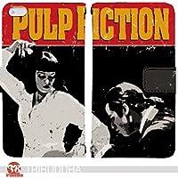 パルプ・フィクション PULP FICTION 手帳型 AQUOS PHONE ZETA SH-01F(G007004_03) 専用 映画 ユマ・サーマン pop art センス 個性的 スマホケース