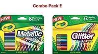 [クレヨラ]Crayola Glitter Markers, 6 Count 58-8629 [並行輸入品]