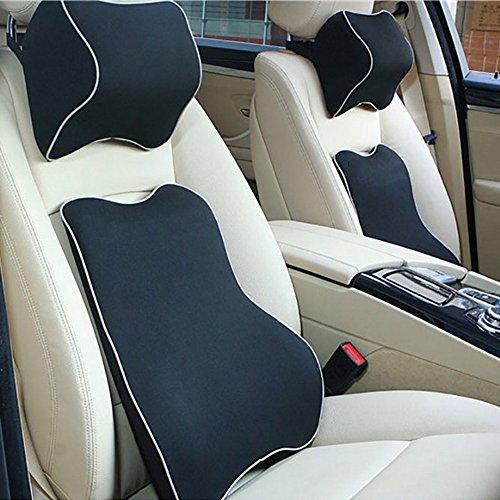 Valuetom車用 低反発 クッション セット(腰あてクッション・ネックパッド) 長座 腰痛対策