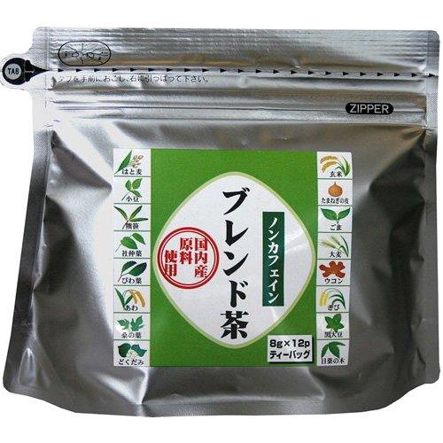 茶三代一 国内産ノンカフェインブレンド茶 8g×12包