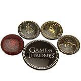 (ゲーム・オブ・スローンズ) Game Of Thrones オフィシャル商品 ロゴ 缶バッジ (5個セット) (ワンサイズ) (マルチカラー)