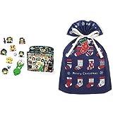 オリケシ 鬼滅の刃 スタンダードセット + インディゴ クリスマス ラッピング袋 グリーティングバッグL ソックス ネイビー ミニカード付 XG248