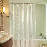 VOLADOR シャワーカーテン バスカーテン 浴室 防水 防カビ カーテンリング付属 3D EVA お風呂カーテン 180×180cm