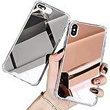iPhone ケース 鏡 ミラー 携帯 TPU 耐衝撃カバー ケース For Iphone XR 7 8 11 XS M…