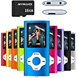 MYMAHDI MP3/MP4 Music Player with 16 GB Micro SD Card(Expandable Up to 128GB),Supporting Photo Viewer,Voice Recorder,FM Radio,E-Book and Earphone Provided Color Darkblue