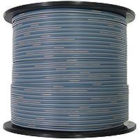 関西通信電線 TIVF 通信用屋内ビニールコード 0.65平方ミリメートル×2芯 灰