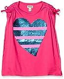 [Hatley] Tシャツ Tシャツ・ハート柄ボーダースパンコール ガールズ S19HFK1426 フューシャピンク地にマルチカラー・スパンコール US 5才、110cm、5Y(112cm) (日本サイズ110 相当)