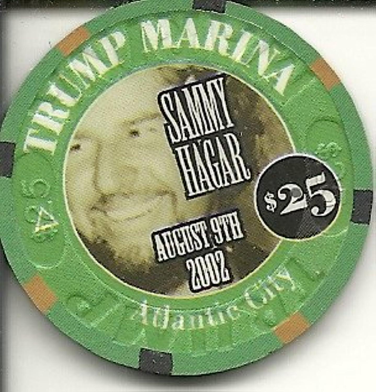 $ 25 Trump Marina Sammy Hagar Super Rare Atlantic Cityカジノチップ