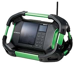 日立工機 14.4V 18V コードレスラジオ 充電式 Bluetooth機能搭載 AC100V使用可 蓄電池・充電器別売り UR18DSDL(NN) 本体のみ
