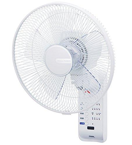 リモコン式壁掛け扇風機(微風/8時間オートオフタイマー)YTW-383YFR-W